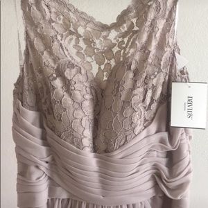 NEW Sleeveless Long Mesh Dress with Corded Lace